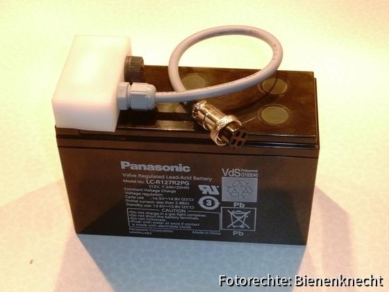 Batterie für Bienenstockwaage