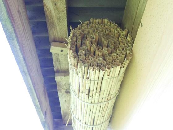 Schilfbündel als Brutplatz für Mauerbienen