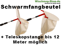 Schwarmfangbeutel mit Teleskopstange